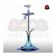 Кальян AMY Deluxe — Stick Steel «SS09» Blue - 75 см