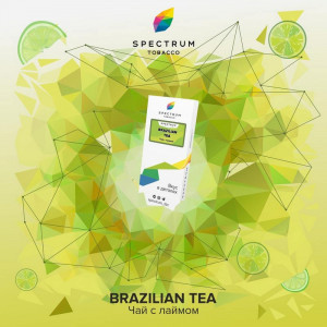 Табак для кальяна Spectrum - Brazilian tea (Чай с лаймом) 40г
