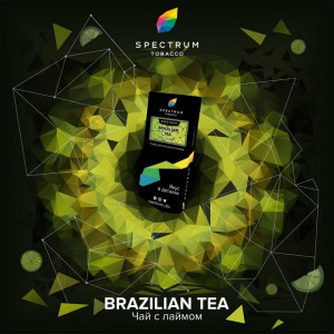 Табак для кальяна Spectrum HARD Line - Brazilian tea (Чай с лаймом) 100г